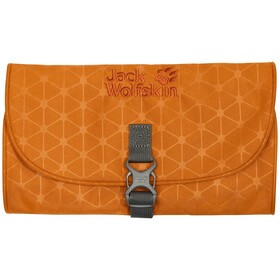 Jack Wolfskin Mini Waschsalon Toilettas, orange grid